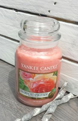 Große Duftkerze Sun Drenched Apricot Rose