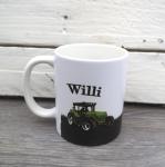 Traktor mit Wunschnamen