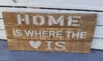 Holzbild Home is where the heart is