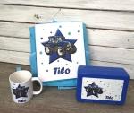 Kombi Traktor mit Rucksack, Tasse & Brotdose mit Wunschnamen