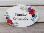Familientürschild mit Wunschnamen