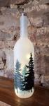 Glasflasche Winterwald