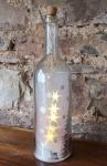 Glasflasche Winterlandschaft, silber