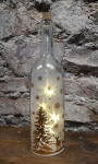 Glasflasche Winterlandschaft, gold