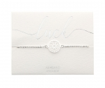 Armband Mandala des Glücks - feinversilbert