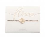 Armband Blume des Lebens - rosévergoldet
