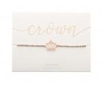 Armband Krone - rosévergoldet