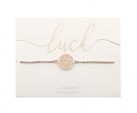 Armband Mandala des Glücks - rosévergoldet