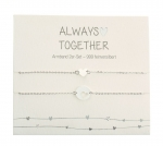 Armband Always together 2er Set - feinversilbert