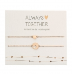Armband Always together 2er Set - rosévergoldet