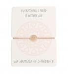 Armband - Mandala der Zuversicht - rosévergoldet