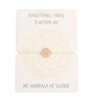 Armband - Mandala der Ruhe - rosévergoldet