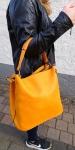 Handtasche orange-gelb