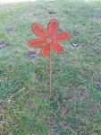 Gartenstecker Rostblume