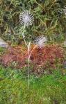 Gartenstecker *Doppel Blume* silber