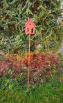 Gartenstecker Rosthäuschen