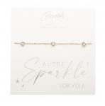 Armband - Sparkle - rosevergoldet - Kristall