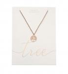 Halskette - rosevergoldet - Baum des Lebens