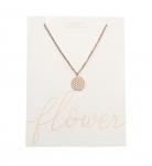 Halskette - rosevergoldet - Blume des Lebens