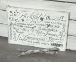 Holzschild *Hochzeit*