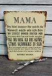 Metallschild *Mama*