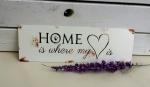 Metallschild *Home*
