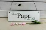 Holzschild *Bester Papa der Welt*