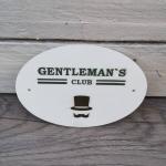 Türschild *Gentleman`s club*