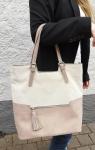 Handtasche rose/beige
